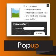 Popup - okienko pop-up treścią i newsletterem